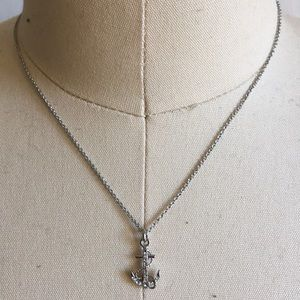 Fossil anchor Necklace